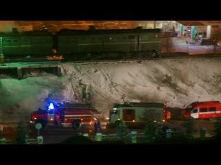 пожар локомотива 21 декабря 2012 г на ул.Смольный буян г.Архангельска